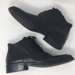 Damarsil Chukka Boots Black Leather Black Lace 12